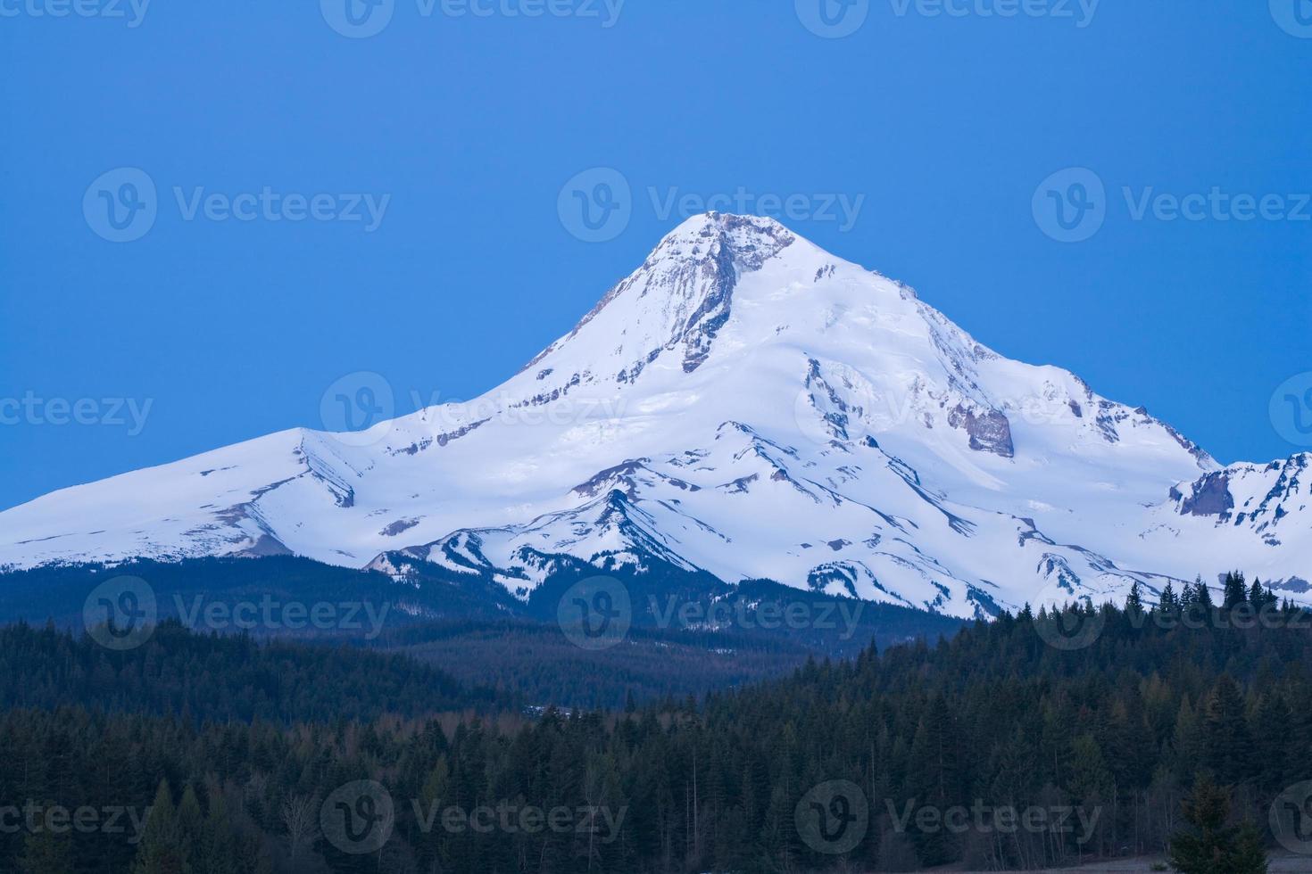 Mount Hood Blue Morning foto