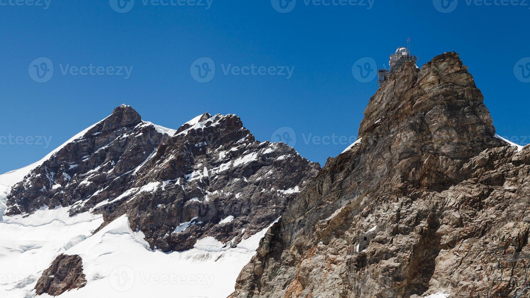 esfinge observatório de alta altitude em passagem de jungfraujoch em switzer foto