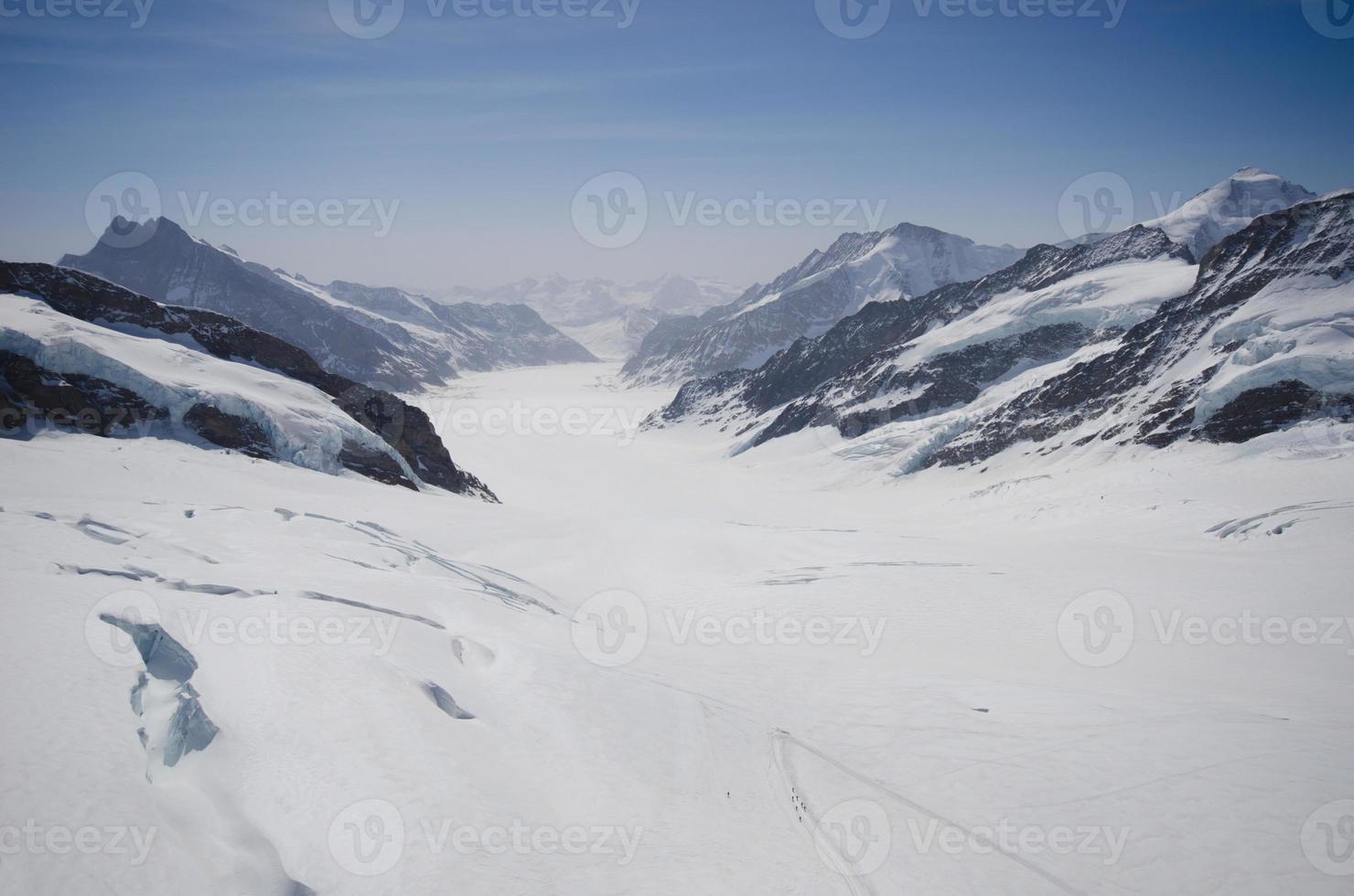vista da geleira de Jungfrau foto