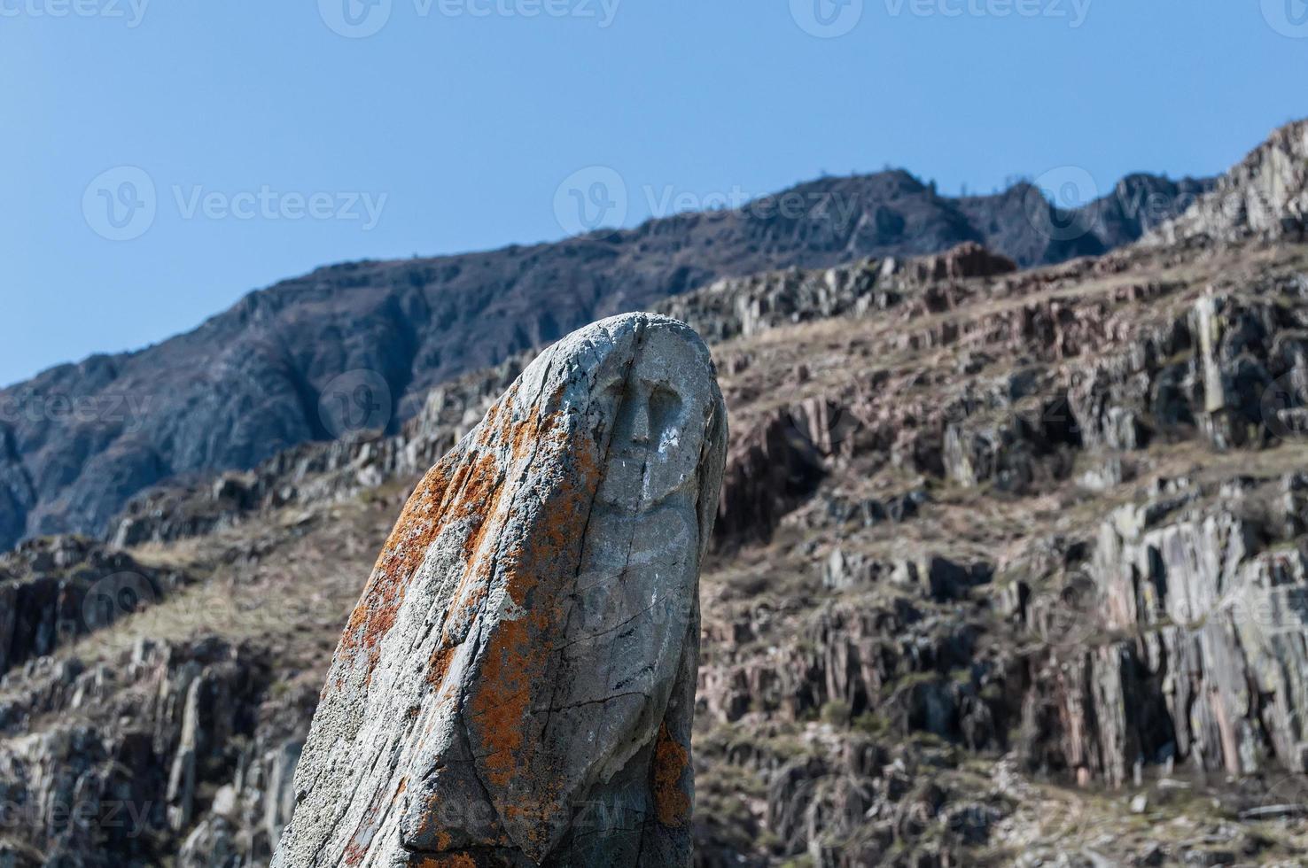 montanha de pedra de rena antiga foto