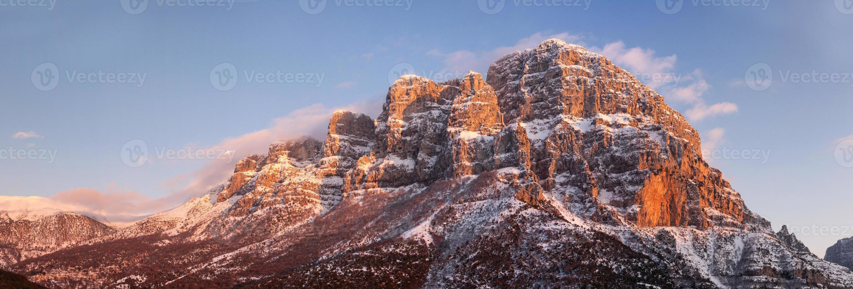 Zagoria vista panorâmica das montanhas foto