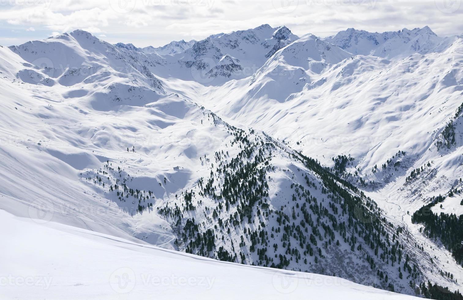 vista da cordilheira nevada foto