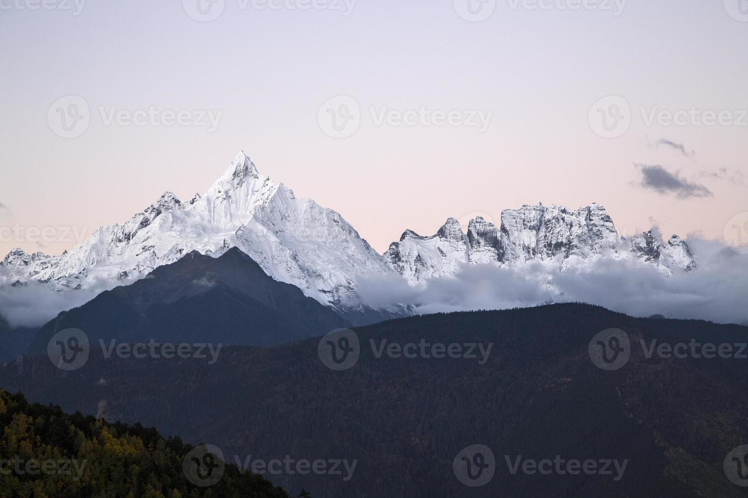 montanha de neve china meili foto