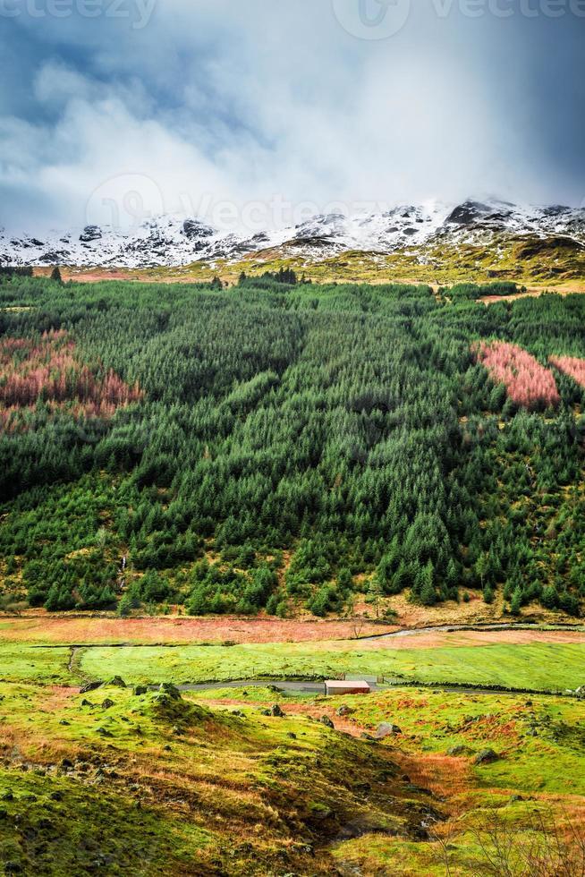 vale nas montanhas, escócia foto