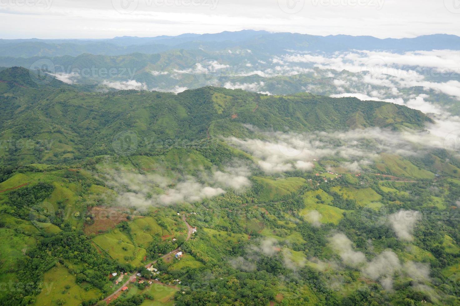 vista aérea na costa rica foto
