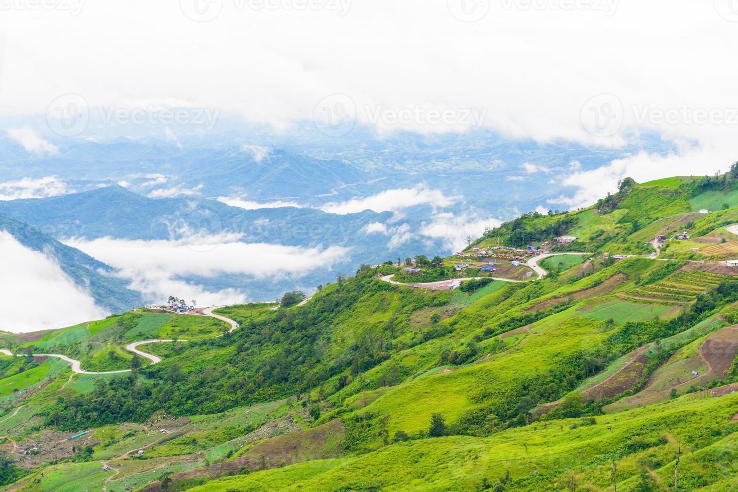 estrada da montanha em (phu tubberk) foto