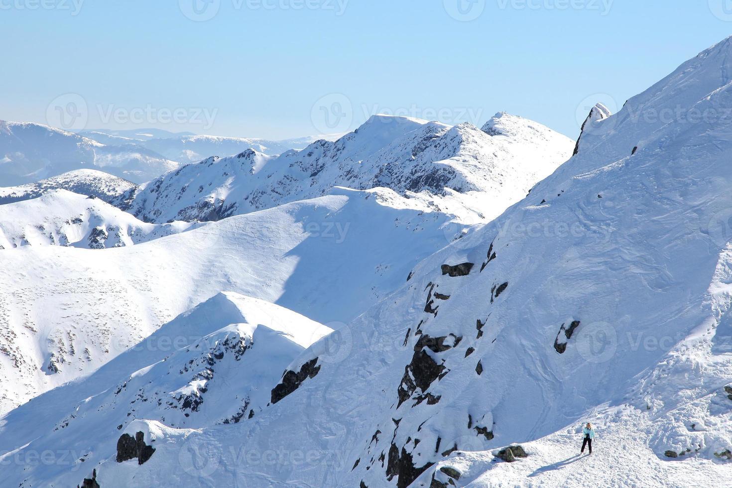 tatras baixas nevadas, eslováquia foto