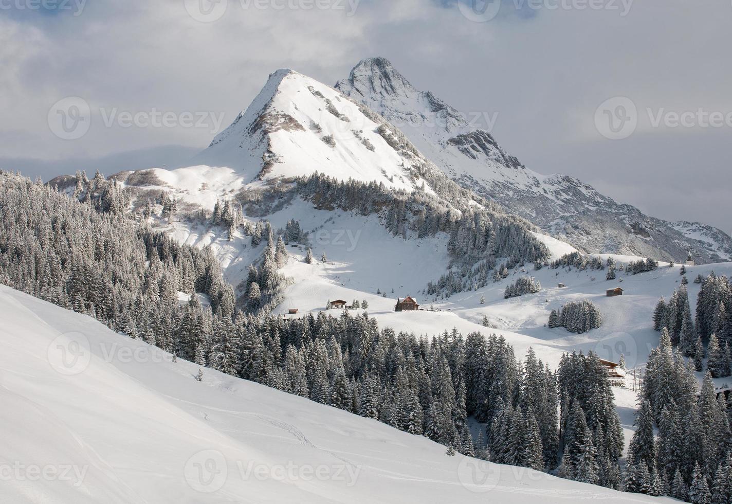 monte biberkopf, warth am alberg, vorarlberg, áustria foto