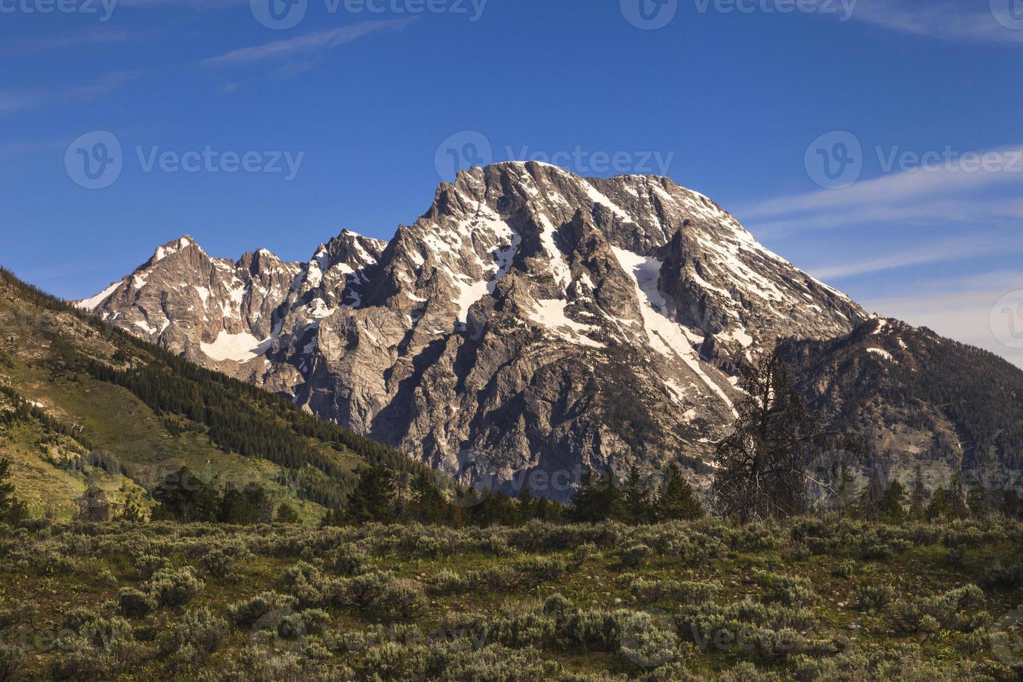 Monte Moran na cordilheira Grand Teton foto