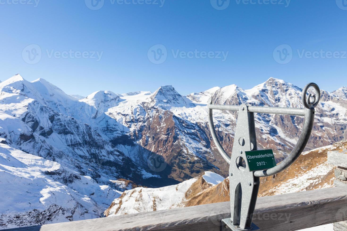 Cadastre-se na montanha grossglockner na Áustria. foto