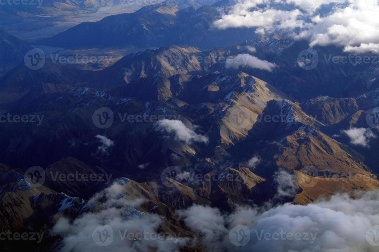 vista aérea da ilha sul da nova zelândia foto