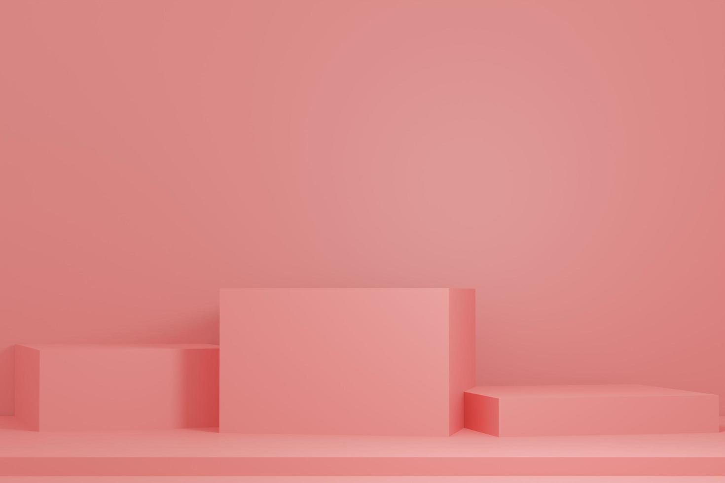 pedestal rosa em fundo rosa foto