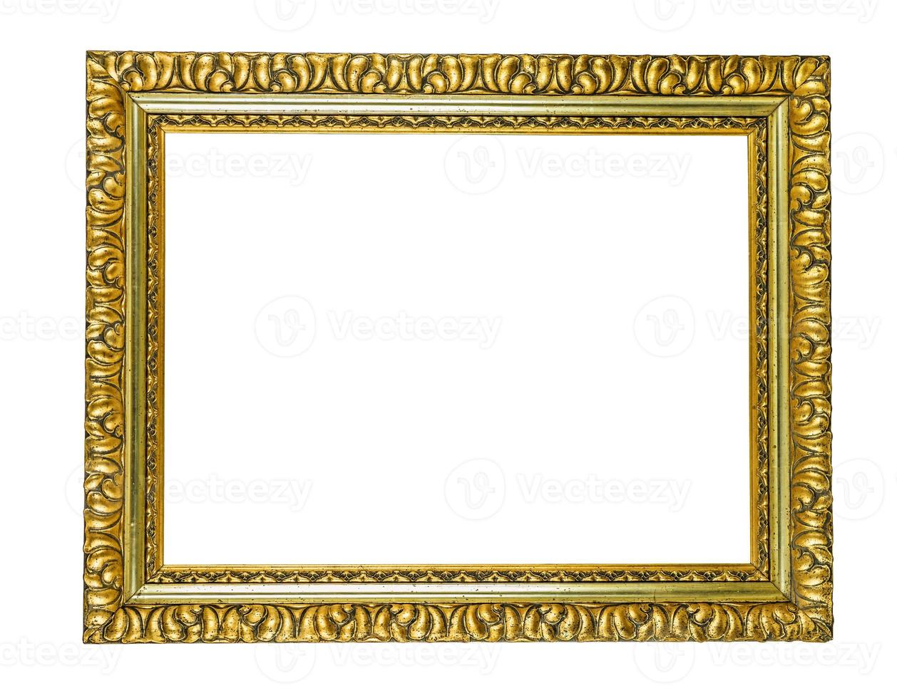 moldura dourada antiga foto