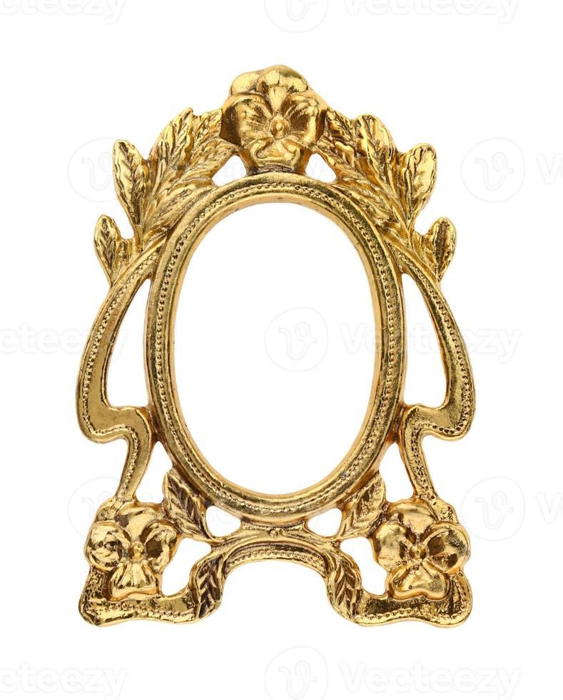 moldura de ouro dourado foto