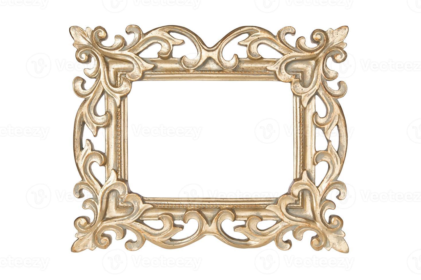 moldura esculpida em ouro foto