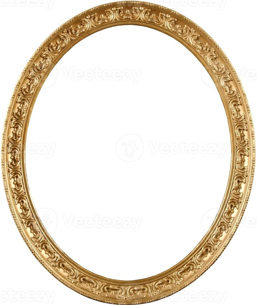 moldura oval dourada foto