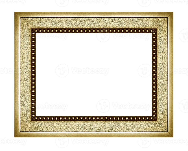 porta-retrato antigo vintage isolado no fundo branco. foto