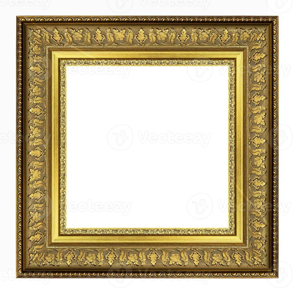 imagem vintage ouro e moldura isolada foto