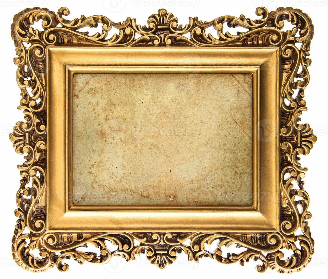 Moldura dourada de estilo barroco com tela foto