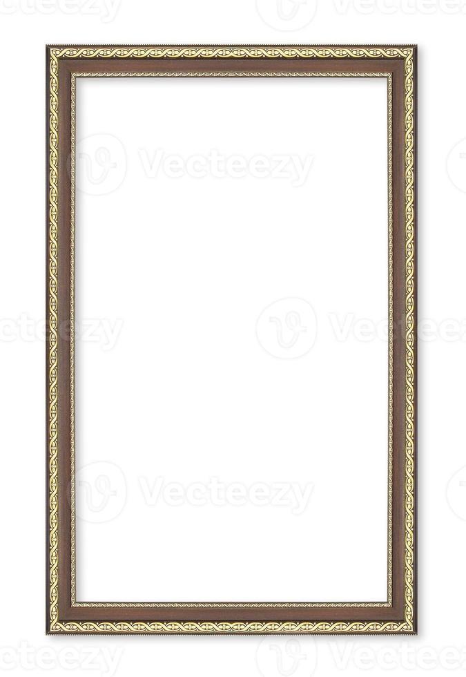 molduras de madeira. isolado em fundo branco foto