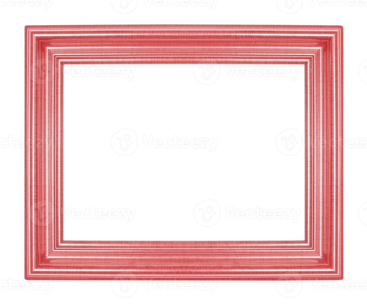 molduras vermelhas. isolado em fundo branco foto