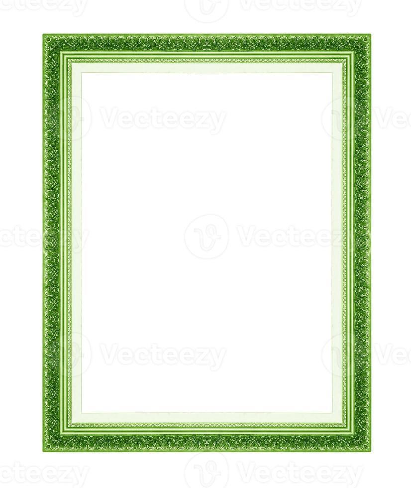 molduras verdes. isolado em fundo branco foto