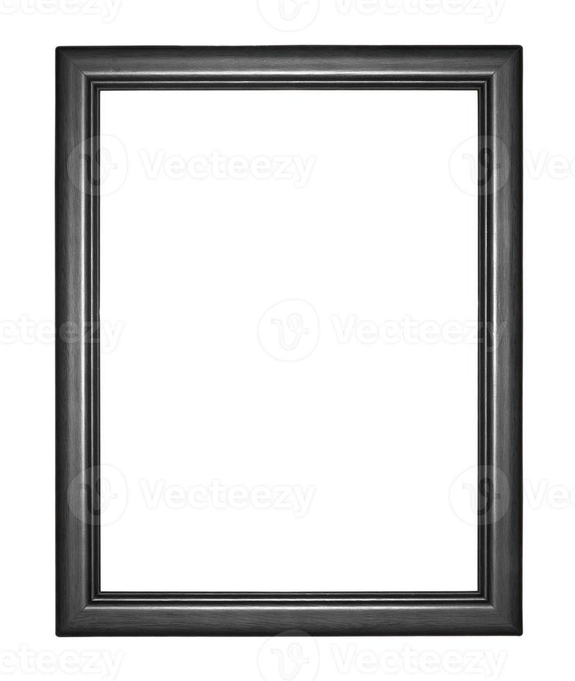 moldura preta isolada em fundo branco foto