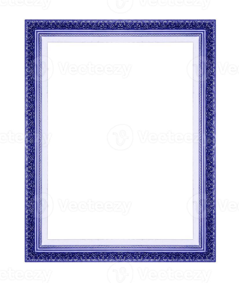molduras azuis. isolado em fundo branco foto