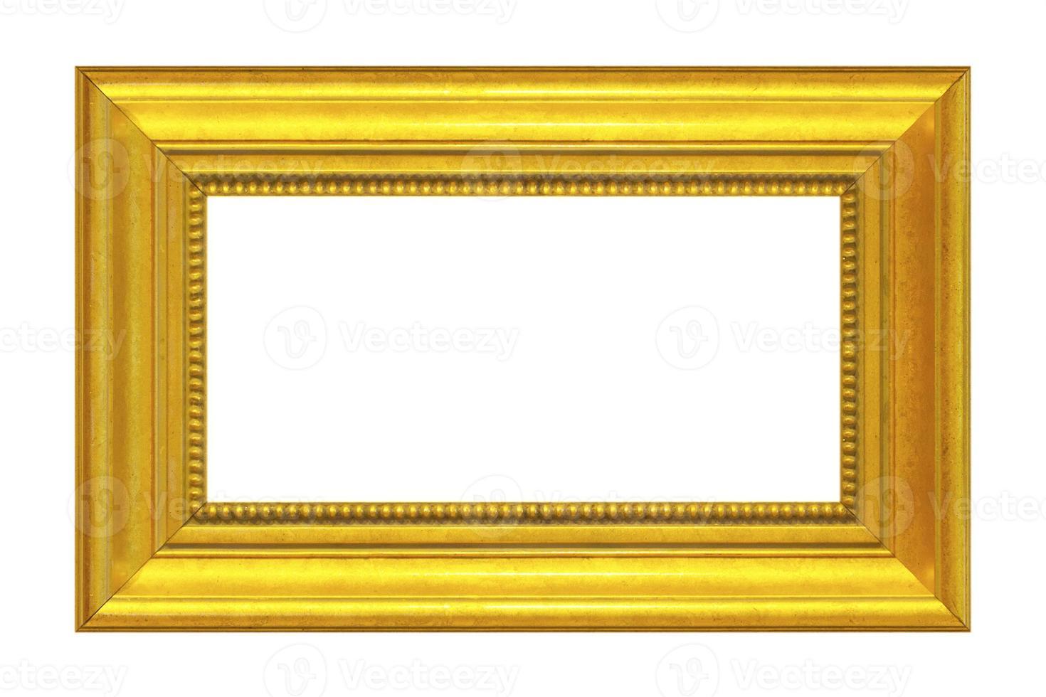 moldura de ouro isolada no fundo branco foto