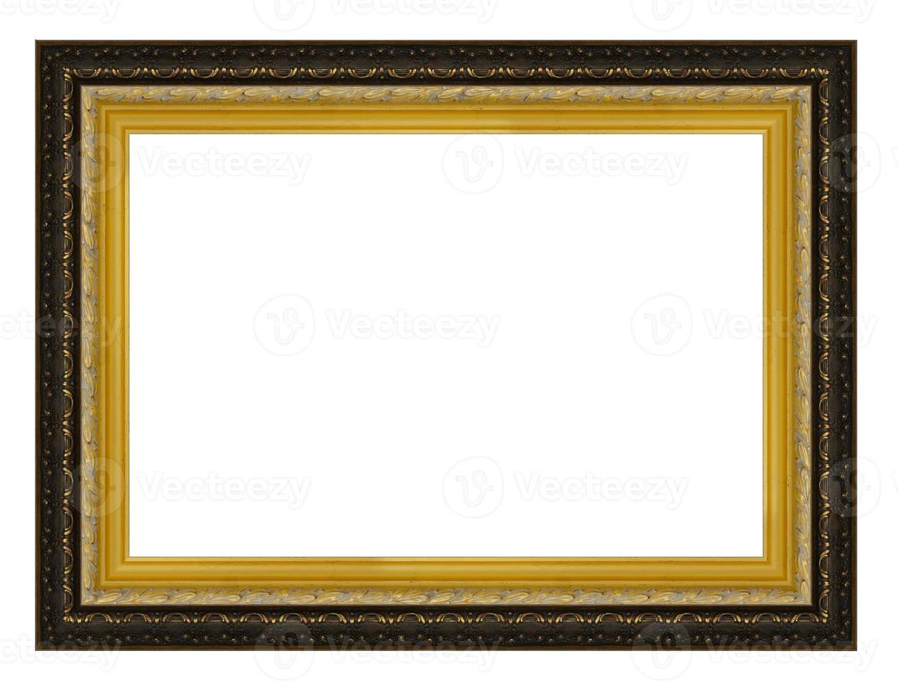 moldura de madeira ouro vintage foto