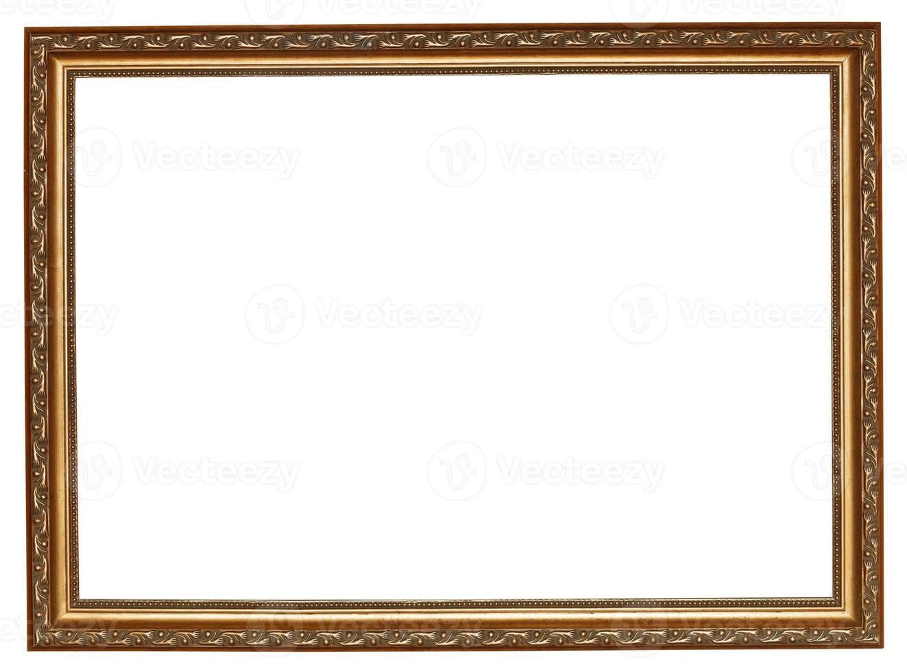 moldura estreita de madeira dourada foto