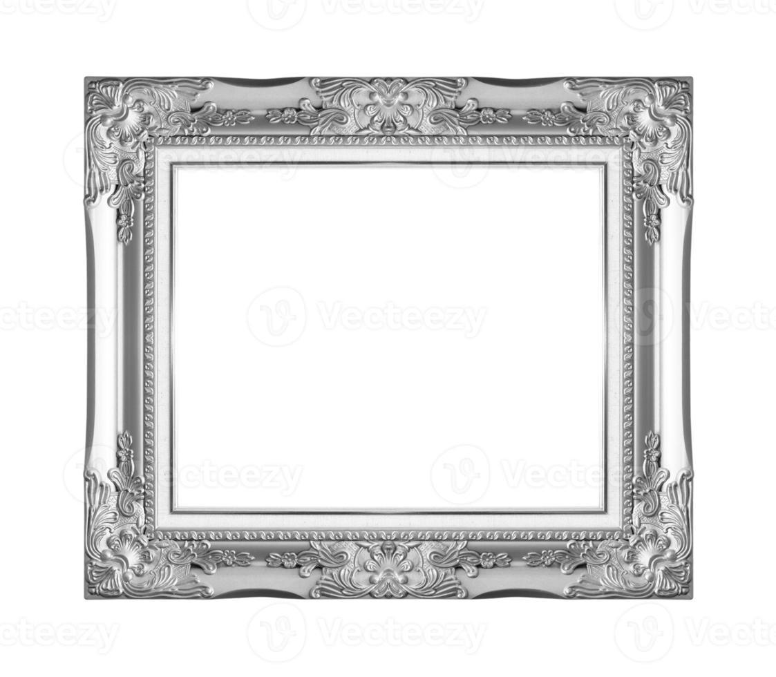 porta-retratos de prata. isolado em fundo branco foto