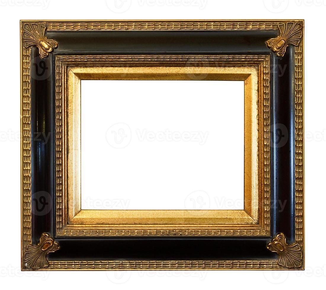 antigo porta-retratos dourado foto