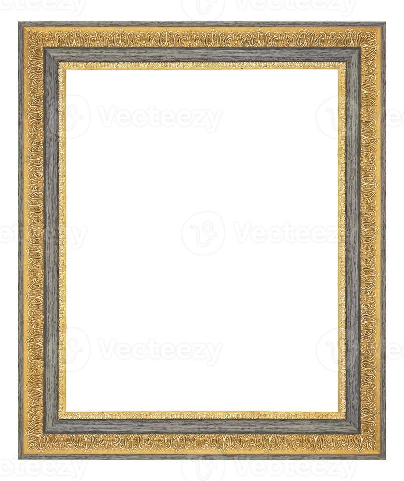 moldura dourada isolada no fundo branco foto
