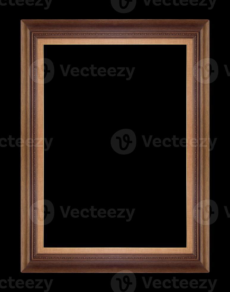 molduras de madeira. isolado em fundo preto foto