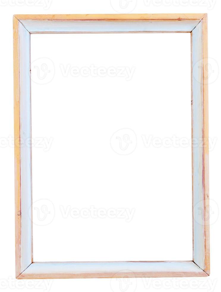 moldura estreita pintada de branco simples foto