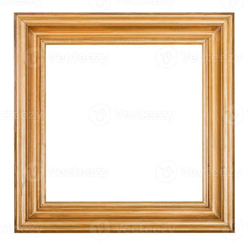 moldura quadrada de madeira lacada dourada foto