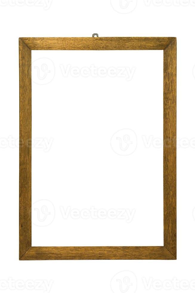moldura de madeira isolada no branco. foto