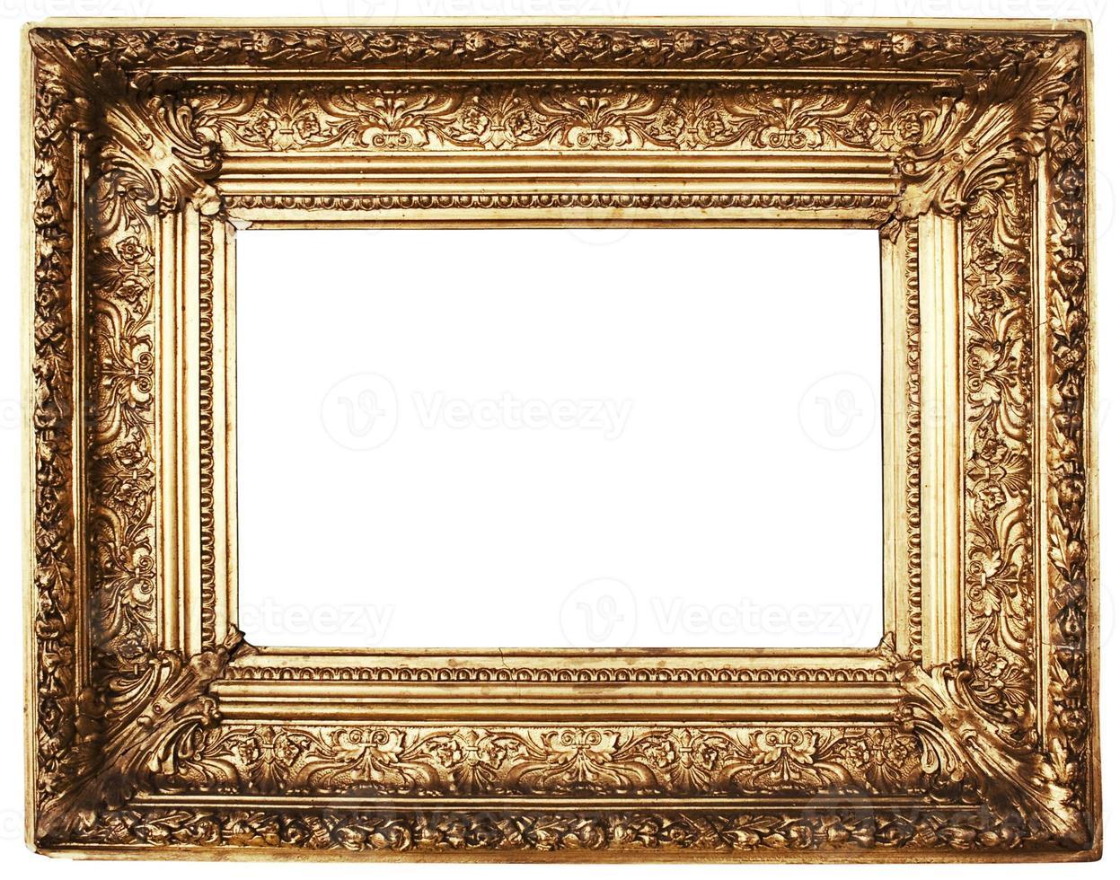 moldura de ouro ornamentada (caminho incluído) foto