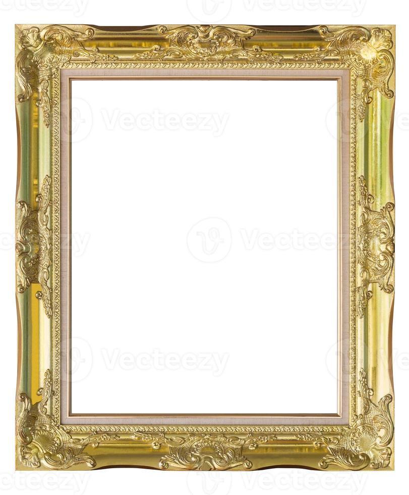 porta-retrato em fundo branco isolado foto