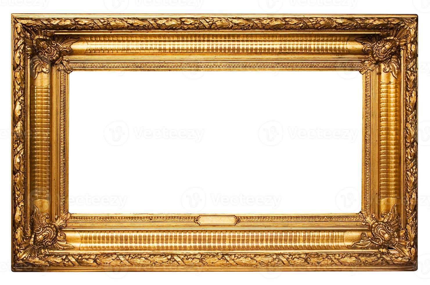 moldura dourada ampla com caminho foto
