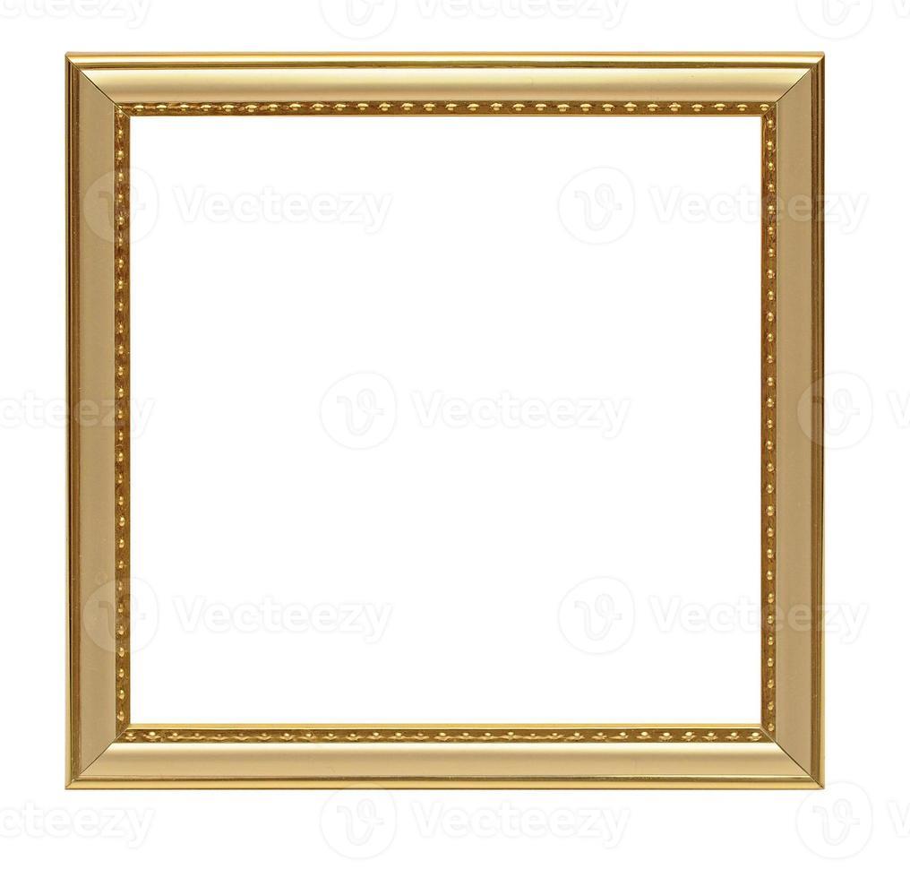 moldura vintage dourada isolada no fundo branco foto