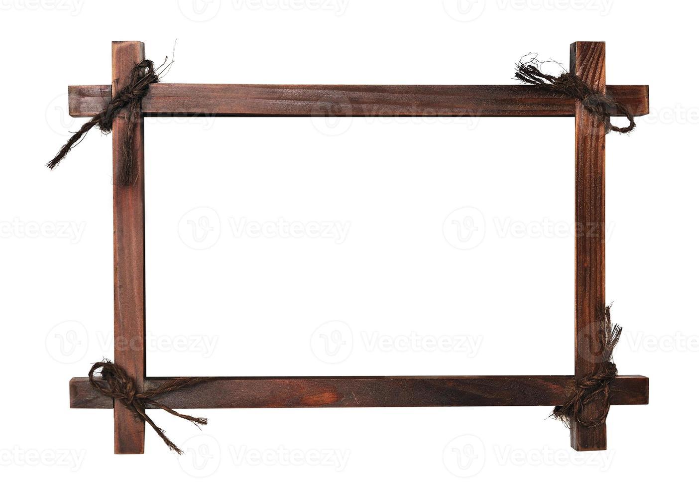 moldura de madeira com cadarços foto