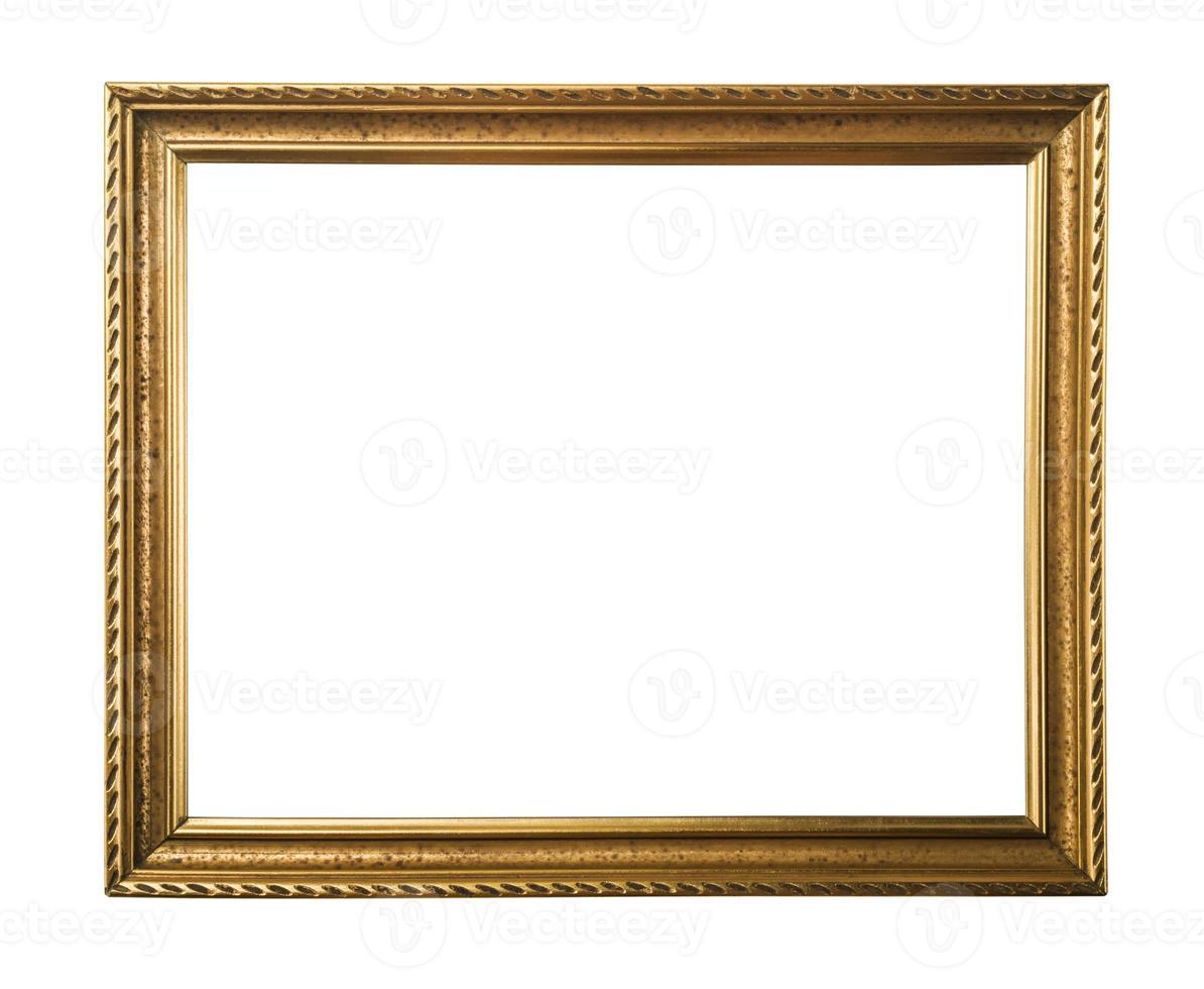 moldura de ouro. isolado no branco foto