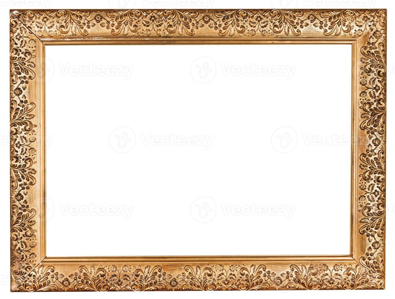 antigo barroco grande moldura dourada foto
