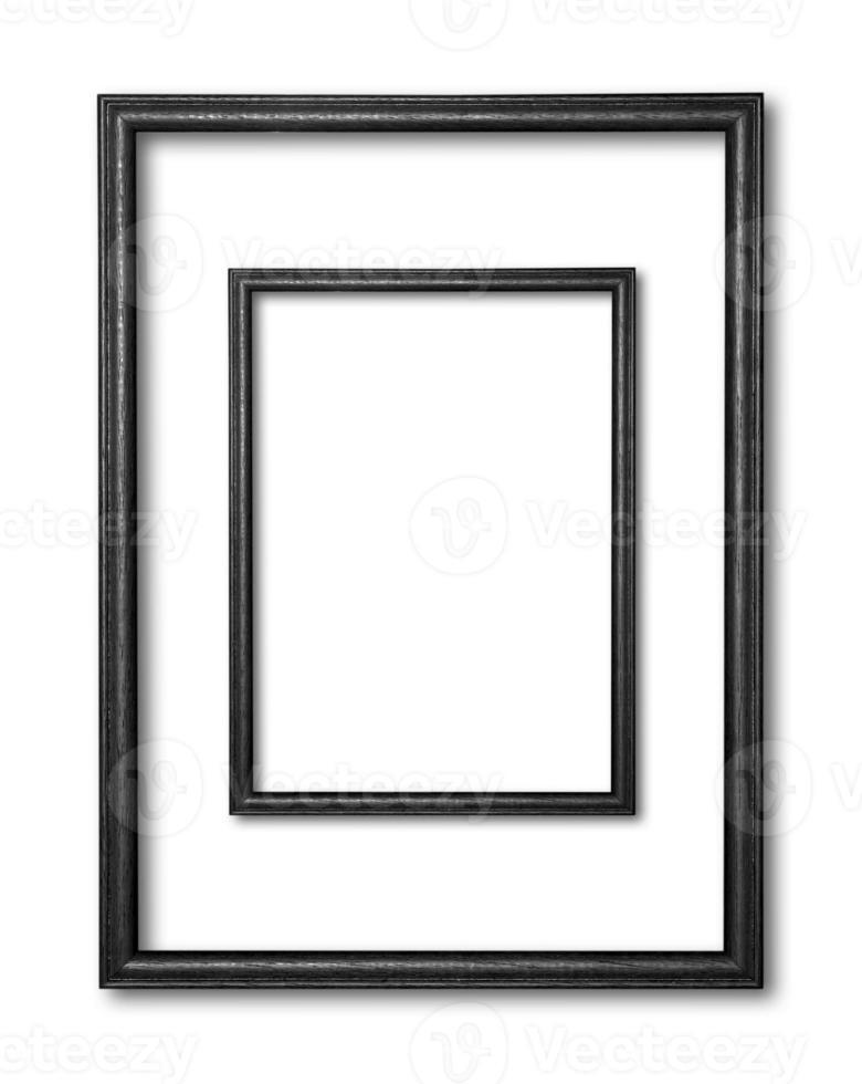 moldura de madeira isolada no fundo branco foto