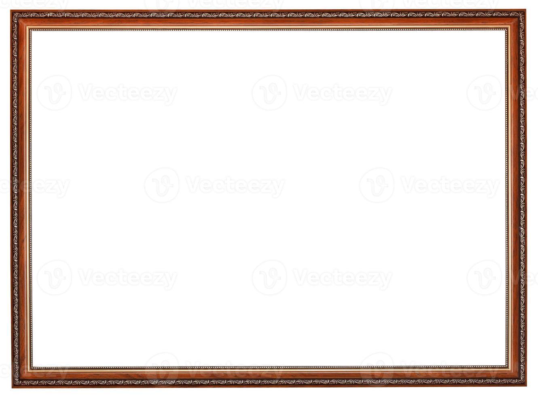 moldura estreita de madeira marrom retro entalhada foto