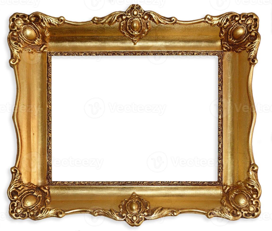 porta-retrato antigo isolado no fundo branco. foto
