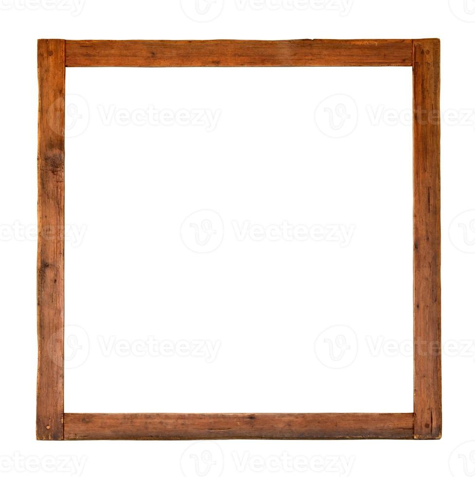 antigo recorte quadrado de madeira foto
