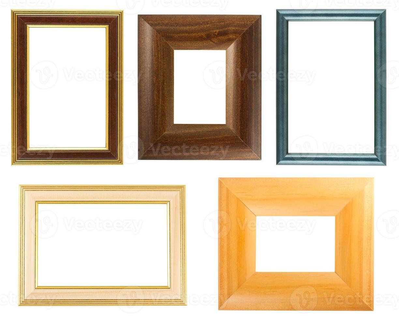 coleção de molduras de madeira foto